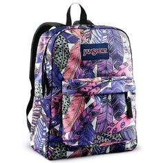 JanSport Classic SuperBreak Backpack, White/Coral Peaches: Sports   #girls #backpacks #fashion www.loveitsomuch.com