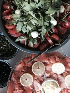 Tomatoes, Cheese, Salmon Camembert Cheese, Tomatoes, Salmon, Dairy, Canning, Eat, Food, Home Canning, Atlantic Salmon