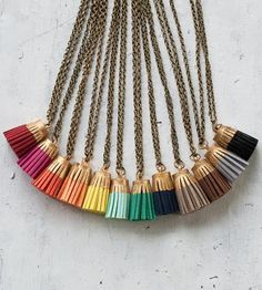 Leather Tassel Necklace by JillMakes