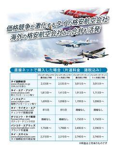 価格競争が激化するタイの格安航空会社
