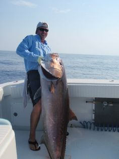Amberjack Caught Out Of Freeport Surfside Beach Fishing Peach Fly