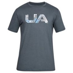 31f29cf649f Under Armour Camo Fill Logo T-Shirt for Men - Stealth Gray Ridge Reaper  Hydro - L