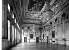 The Great Hall with painted panel on ceiling by Charles Sims