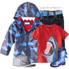 Toddler Boy's Outfit: Shark Week, created by angiejane on Polyvore