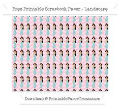 Free Landscape Pink Chevron Large Princess Jasmine Pattern Paper - Aladdin