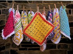 cute crocheted washcloth :)