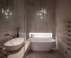 Ochre Celestial Pebble in this Janey Butler Interiors stylish Bathroom with Vola fittings