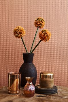 Rood koper 3D Behang / Red copper 3D Wallpaper collection Moods - BN Wallcoverings. Ook te verkrijgen bij Meiling in Putten