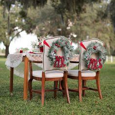 Decoración de mesas de boda inspirada en la Navidad - Foto Theresa NeSmith Photography