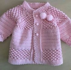 """pixeles """"Free baby cardigan pattern (plus heaps of variations)"""", """"This post was discovered by Zey"""""""
