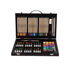 Amazon Com U S Art Supply 143 Piece Mega Wood Box Art Painting