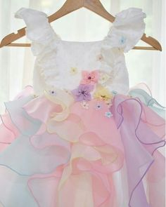 sadie then ty tulle dress Kylie Birthday, Unicorn Birthday Parties, Birthday Dresses, Unicorn Dress Toddler, Unicorn Outfit, Little Girl Dresses, Girls Dresses, Kids Gown, Baby Gown