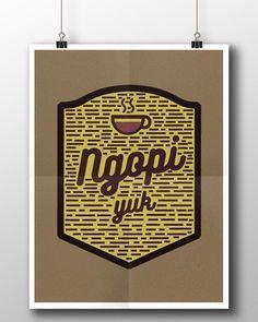 Ngopi yuk typography