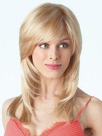 Description Long Human Hair Wigs European Style Elegant Wavy Blonde Hair Wigs; item Type:Wig Materia