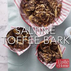 Saltine Toffee Bark Recipe