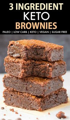 3 Ingredient Keto Brownies - 15 Delicious and Easy to Make Low Carb Keto Brownies Keto dessert recipes Keto cookies Keto sweets Low carb desserts Keto brownies low carb Keto mug brownie Keto Brownies, Healthy Brownies, Easy Brownies, Sugar Free Brownies, Almond Flour Brownies, Avocado Brownies, Pumpkin Brownies, Keto Fudge, Protein Brownies