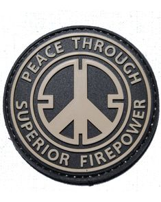 Amazon.com: Peace Through Superior Firepower PVC Velcro Morale Patch: Everything Else