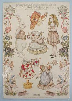 Alice in Wonderland paper doll