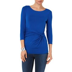 Buy Phase Eight Rachel Plain Top, Cobalt Online at johnlewis.com