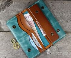 Sew Wallet, Handmade Wallets, Leather Accessories, Long Wallet, Leather Working, Wallets For Women, Leather Craft, Fashion Bags, Leather Wallet