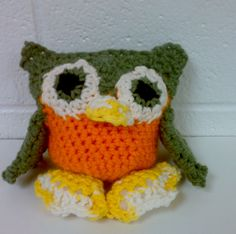 Owl with feet by annanadulek on Etsy, $15.00