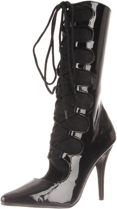 Pleaser Women's Seduce-1049/B Mid-Calf Boot * Find out more about the great product at the image link.