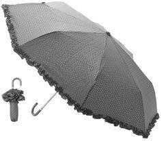 Umbrella by Lisbeth Dahl Copenhagen. #LisbethDahlCph #umbrella #flounce #grey #stars #practical #foldable