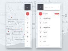 UpLabs curates the best of design & development inspiration, resources and freebies. Map Design, Ui Ux Design, Graphic Design, Sushi, App Map, Ios Ui, Delivery App, Mobile App Ui, Design Development