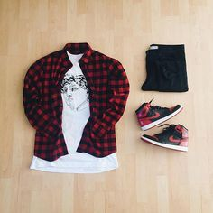 or: by Michael Hartridge : : : 1 'Bred' for on-feet photos for outfit lay down photos Jordans Outfit For Men, Swag Outfits Men, Stylish Mens Outfits, Dope Outfits, Casual Outfits, Fashion Outfits, Casual Blazer, Blazer Outfits, Hype Clothing