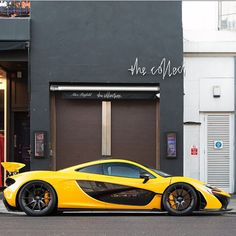 McLaren P1 painted in Volcano Yellow  Photo taken by: @Alexpenfold on Instagram