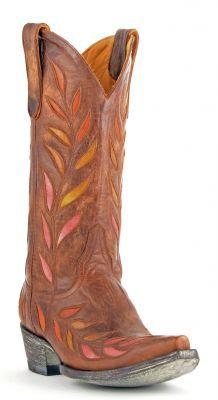 Womens Old Gringo Muchas Hojas Boots Brass #L120-28 via @Allen & Cheryl Smith Boots