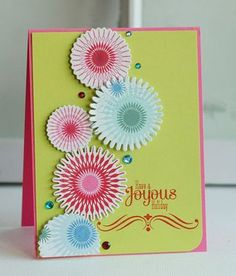 Joyous Holiday Card by Betsy Veldman for Papertrey Ink (October 2012)