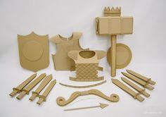 Cardboard knights weapon