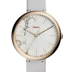 Annette Three-Hand Mineral Gray Leather Watch