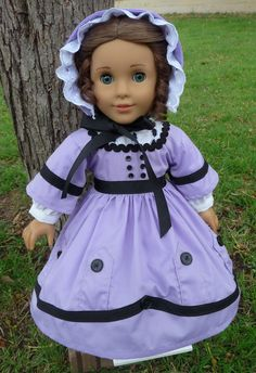 18 Doll Clothes Historical Civil War Style Gown by Designed4Dolls, $45.00