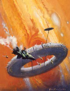 Official website of John Harris: landscape, science fiction and marine artist Science Fiction Kunst, Science Art, Fantasy Kunst, Fantasy Art, John John, Best Sci Fi Books, Sci Fi Kunst, Arte Sci Fi, 70s Sci Fi Art