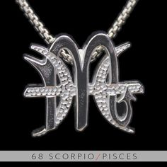 68 Scorpio and Pisces Silver Unity Pendant by UnityDesignConcepts, $59.99