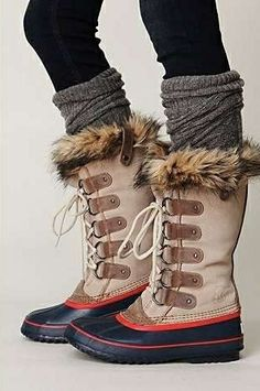 """Sorel's popular """"Joan of Artic Boot"""" comes in multiple colors and has a touch of fur on the top"""