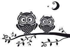 'Silhouettes Owls' by Yullia Brykova