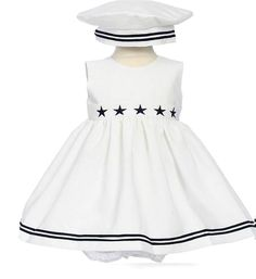Childrens Boutique Clothing and Gifts Sailor Fashion, Baby Girl Fashion, Kids Fashion, Sailor Outfits, Sailor Dress, Navy Sailor, Children's Boutique, Boutique Clothing, Nautical Dress