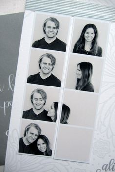 Save-the-date photo strip