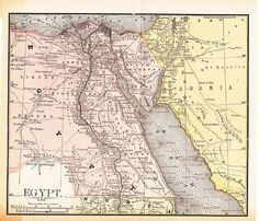 Egypt Nile Old Map Finley Digital Image Scan Download - Un map of egypt