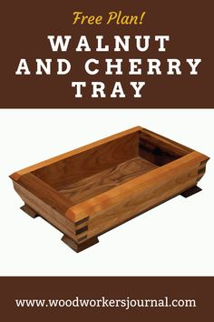 You can make this shapely tray using only a table saw equipped with a dado cutter (and a cove cutting jig from Rockler). Woodworking Square, Cool Woodworking Projects, Woodworking Classes, Diy Woodworking, Hockey Birthday Cake, Scrap Wood Projects, Craft Show Ideas, Furniture Plans, A Table