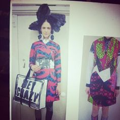 Favourite look @LOUiSEGRAYLONDO! The handbag pretty much sums up her #AW13 collection at #LFW. #topshop