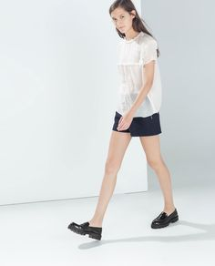 SHORT SLEEVE EMBROIDERED TOP-Trf-Tops-WOMAN-SALE | ZARA United States
