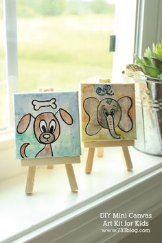 DIY Mini Canvas Art