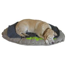 Precious! Luxurious Handmade Aromatherapy Dog Bed from 1ofthefamily.com Filled with locally sourced organic lavender, crunchy buckwheat hulls & silky hemp fibers.