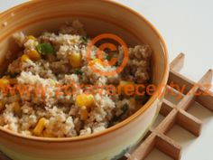 Detail receptu - Kuskus s tuňákem a kukuřicí Couscous, Fried Rice, Quinoa, Fries, Food And Drink, Cooking Recipes, Lunch, Dinner, Ethnic Recipes