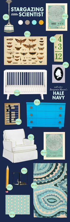 Nursery  |  navy  |  neutral nursery  |  turquoise
