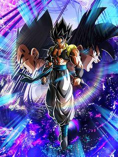 Gogeta card [Dokkan Battle] by on DeviantArt Dragon Ball Gt, Dragon Ball Image, Evil Goku, Gogeta And Vegito, Goku Wallpaper, Z Arts, Animes Wallpapers, Son Goku, Fantasy Artwork